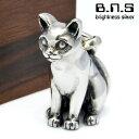 銀の猫 ネコペンダント2 シルバー925 Silver925 (ネックレス、ねこ、猫、キャット、CAT)