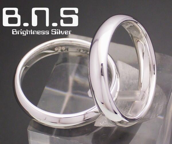 甲丸シルバーリング 4mm シルバー925 ペアリングにも最適 (男性用 女性用 メンズ レディース シンプル 結婚 指輪 マリッジリング 刻印可 刻印無料 銀)