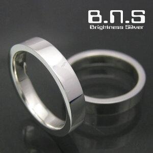 平打ちシルバーリング 3.5mm シルバー925 ペアリングにも最適 (男性用 女性用 メンズ レディース シンプル 結婚 指輪 マリッジリング 刻印可 刻印無料 銀)