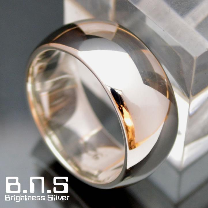 甲丸シルバーリング 10mm シルバー925 ペアリングにも最適(男性用 女性用 メンズ レディース シンプル 結婚 指輪 マリッジリング 刻印可 刻印無料)