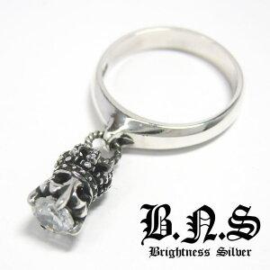 王冠の指輪 CZクラウンチャームリング シルバー925 ジルコニア