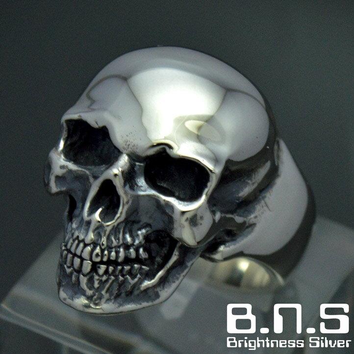 怒りの髑髏 レイジスカルリング シルバー925 銀製 (skull ring ドクロ どくろ 髑髏)