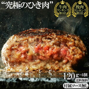 【 送料無料 ギフト バレンタイン 】 究極のひき肉で作る 牛100% ハンバーグ ステーキ プレーン 120g 6個入 ソース無 | ぼんぼり 無添加 冷凍 レトルト お中元 牛肉 ビーフ プレゼント 贈り物 誕