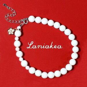 ハワイアンジュエリー ブレスレット Laniakea 白サンゴ 2tone ピンク蝶貝 シェル プルメリア キュービックジルコニア SILVER925 レディース lfp094