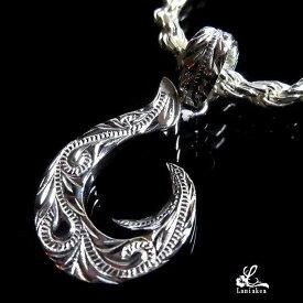ハワイアンジュエリー フィッシュフック ネックレス Laniakea Ropeチェーン付き SILVER925 誕生石 ダイヤモンド オプション メンズ レディース sfi031