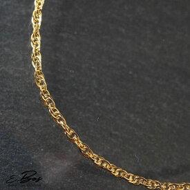 ネックレス スクリュー チェーン 2mm幅 45cm K24 純金 仕上げ ゴールド ステンレス スチール アレルギーフリー サージカルステンレス316L sc2