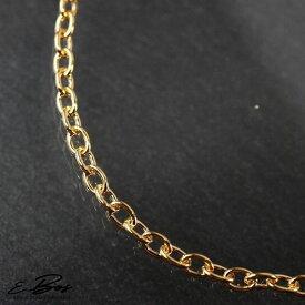 ネックレス 2mm幅 45cm チェーン K24 純金 仕上げ ゴールド ステンレス スチール アレルギーフリー サージカルステンレス316L sc2
