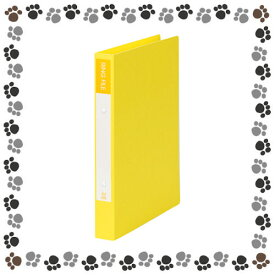 ビュートンジャパン 紙製リングファイル A4判タテ型(背幅36mm) SRF-A4-Y/イエロー【a20766】