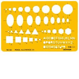ウチダ(UCHIDA) テンプレート 組合せ定規 1-843-0130 No.130【4115999】