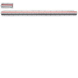 ウチダ(UCHIDA) 三角スケール セル張り 30cm 副尺付き 1-882-0002【4117418】