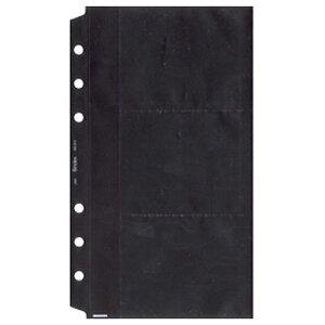 日本能率協会 システム手帳リフィル【バイブルサイズ】名刺ホルダー2(薄型タイプ)No.513