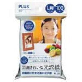 プラス 超きれいな光沢紙 L判 100枚入 IT-100L-GC【j46083】