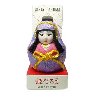 ガーリー姫だるま桜柄紫