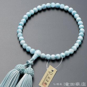 供念珠女性使用的rarima 7mm硬幣純絲發型構架名牌京都念珠