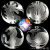 Chinese Gods of four seasons breath rutilated quartz 10mm citrine & gold aura 8mm book crystal star shape ◆ beads bracelet