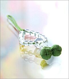 【天然石 携帯ストラップ】 水晶丸玉 柳【楽ギフ_包装選択】