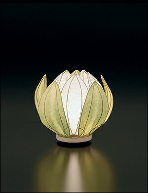 ≪淡いグリーン色の灯り≫【モダン提灯】【提灯 はす】【インテリア提灯】【送料無料】【はなあかり】【盆提灯】はなあかり グリーン