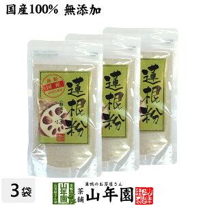 【国産100%】【無添加】れんこんパウダー 蓮根粉 100g×3袋セット 送料無料 熊本県産 粉末 れんこん粉 レンコンパウダー レンコン粉 国産 蓮根 粉末 蓮根粉末 蓮根パウダー 節れんこん 2021 お年