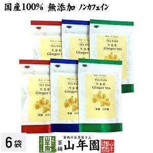 【国産100%】生姜茶 ジンジャーティー 2g×5パック×6袋セット 生姜100% 熊本県産 送料無料 無添加 ノンカフェイン ショウガ茶 しょうが茶 ギフト プレゼント 父の日 お中元 プチギフト お茶 2021