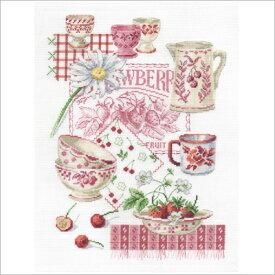 【DMC】 クロスステッチ刺繍キット BK768 Summer Fruit 【あす楽】