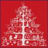 【DMC】クロスステッチキットJPBK557Rクリスマスツリー(レッド)【あす楽】【HLS_DU】【RCP】