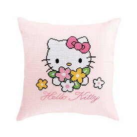 オリムパス 刺繍キット 6023(ピンク) ハローキティ ブーケ