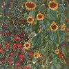 ★新発売★【DMC】クロスステッチ刺繍キットBK1812FARMGARDENWITHSUNFLOWERS『ひまわりの咲く農家の家』GustavKlimt【あす楽】【送料無料】