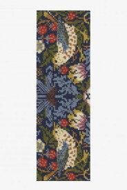 ★新発売★【DMC】 クロスステッチ 刺繍キット BL1170/77 William Morris - Strawberry Thief 『いちご泥棒』 ブックマーク【あす楽】【メール便】