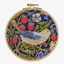 ★新発売★【DMC】 クロスステッチ 刺繍キット BL1174/77 William Morris - Strawberry Thief 『いちご泥棒』 フープ…