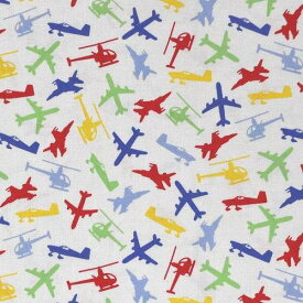 【USAコットン Exclusively Quilters】 Junior Pilots 60427-10 【切り売り】