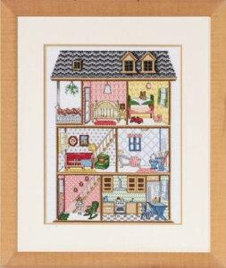 【Permin of Copenhagen】クロスステッチ刺繍キット Doll House 92-7434 ドールハウス(ペルミン/デンマーク)【送料無料】