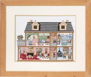 【Permin of Copenhagen】クロスステッチ刺繍キット Antique Doll House 92-7435 アンティークドールハウス(ペルミン/デンマーク)【送料無料】