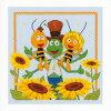 【ベルバコ】クロスステッチ刺繍キット0154469AmongtheSunflowersひまわりに囲まれてMayaみつばちマーヤ【あす楽】【HLS_DU】【送料無料】