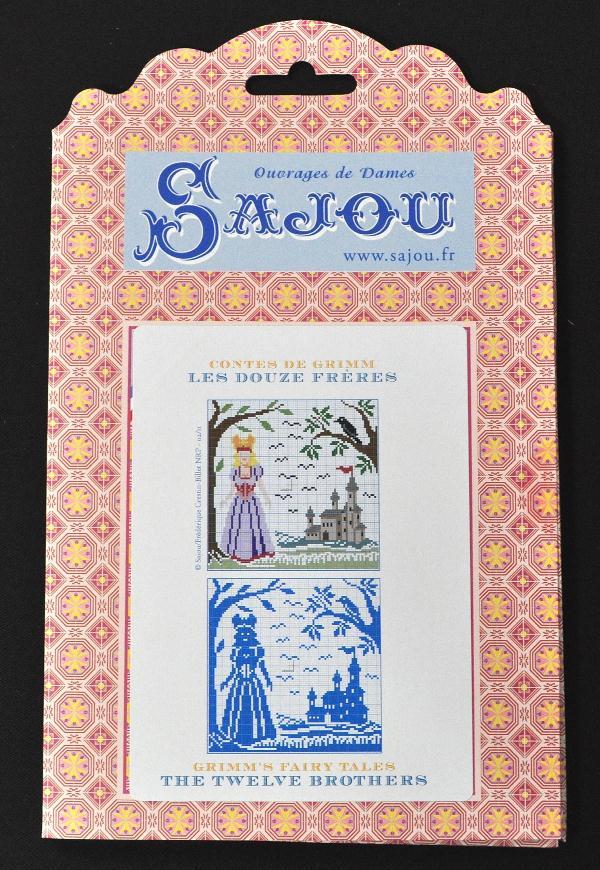 【Sajou】 サジュー 図案チャート グリム童話集 『Les Douze Freres』 GRI_PDC_GRI_02