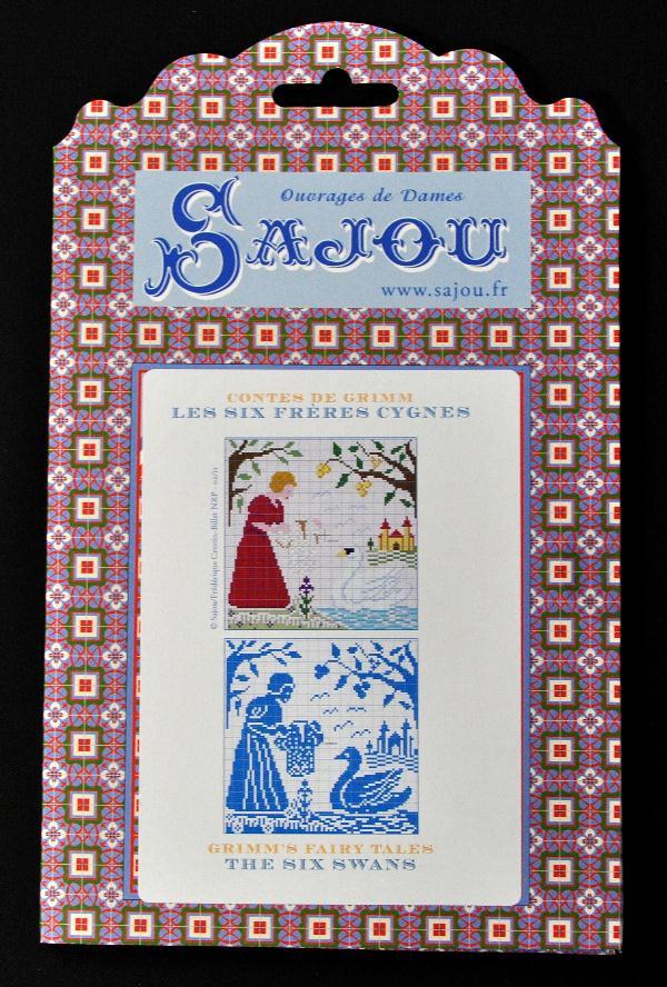 【Sajou】 サジュー 図案チャート グリム童話集 『Les Six Freres cygnes』 GRI_PDC_GRI_10