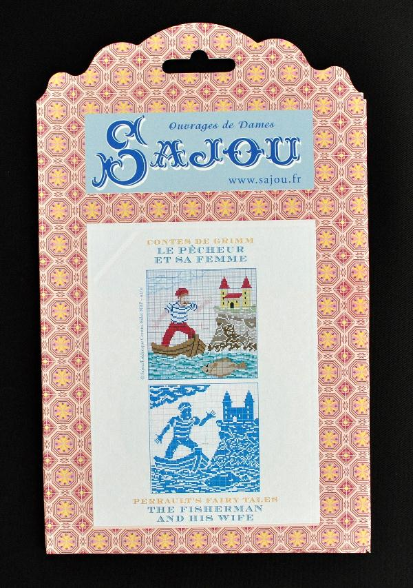 【Sajou】 サジュー 図案チャート グリム童話集 『Le Pecheur et sa Femme』 GRI_PDC_GRI_07