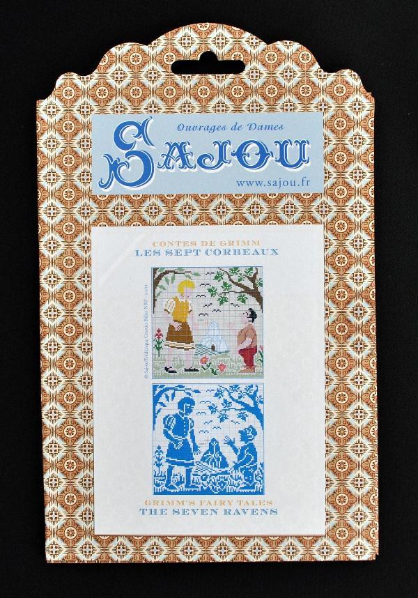 【Sajou】 サジュー 図案チャート グリム童話集 『Les Sept Corbeaux』 GRI_PDC_GRI_09