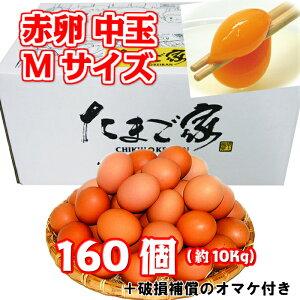 赤卵 160個以上 Mサイズ 中玉 約10Kg 送料無料 若鶏卵 鶏卵 お得 九州産 生食用 お中元 お歳暮 破損補償入り