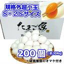 白卵 200個以上 規格外 小玉 Sサイズ 2Sサイズ 約10Kg 送料無料 鶏卵 若鶏卵 初産み卵 お中元 お歳暮 お…