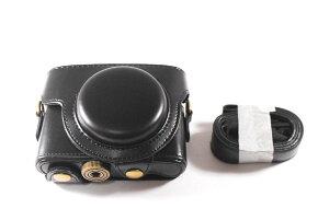 ソニー SONY Cyber-shot RX100M4 RX100M5 対応 高級合皮レザー カメラケース【セパレート式でハーフケースにもなる!】SONY RX100M5 用 カメラケース c00201