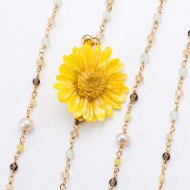 期間限定 ポイント5倍【送料無料】 sunflowerpuma necklace (yellow) 花 ネックレス サンフラワー