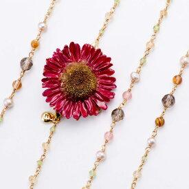 期間限定 ポイント5倍【送料無料】 sunflowerpuma necklace (burgundy) 花 ネックレス サンフラワー