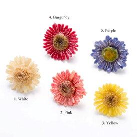 期間限定 ポイント5倍【 価格改定 お買い得商品 】sunflowerpuma earrings 天然石 ピアス 花 サンフラワー
