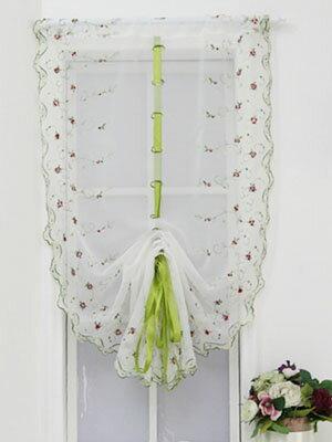 刺繍・リボン・パネルカーテン 子供部屋 小窓 キッチン用にも80x180cm 長さ調節は自由自在♪一枚のみのご注文は送料180円でポスト投函便にて送ります!尚送料訂正はご注文受付後になります。