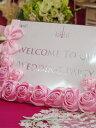 薔薇のwelcomeボード♪案内文は入れ替えできます☆結婚式、パーティ、お誕生日等々ご活用下さいウェディング・結婚・お祝い♪