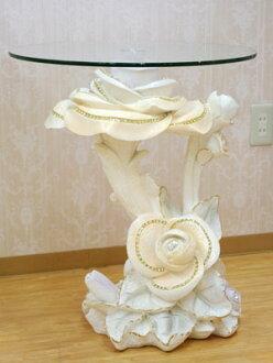 로코코 장미의 유리 테이블 보조 탁자 센터 테이블하치 두어 멋쟁이 멋 장식물 고저스 안틱 코너 테이블 장식대 현관 코너 관엽식물 두어 받침대 화이트 보조 탁자흰색 오너먼트 반짝반짝
