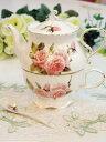 アウトレット品・箱無しニューアライバルイングリッシュローズ薔薇食器テーブルウェアポット+カップ+スプーンのセット♪ティータイムフォーワン☆返品・交換不可です★