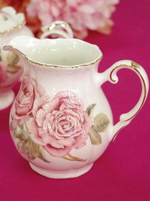 「ローズオブローゼス」ミルクポット単品売り一輪挿しとしても☆薔薇柄のプリント不良&箱なしのため、特価販売☆ご使用には問題ありません。アウトレット品です。返品・交換不可です。。。