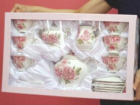 薔薇 ティータイム 23点セット♪来客用 パーティー プレゼント ロココ ティーセット ローズ 薔薇 テーブル おしゃれ 可愛い 来客用 プレゼント ウェディング お祝い ギフト 出産内祝 結婚式引出物 ティーカップ お誕生日 お礼 結婚祝い 引越し祝い お返し
