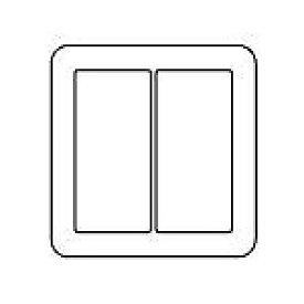 WTV6102S2 パナソニック [ラウンド] スイッチプレート(2連用)(シルバーグレー)